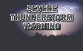 Severe Thunderstorm Warning Graphic